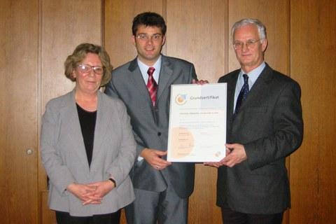 Zertifikatsverleihung 2003